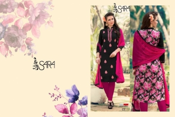 LOOKWELL SARA EMBROIDERY WORK WITH FANCY BACK PRINTED SUITS WHOLESALE PRICE (1) JPG