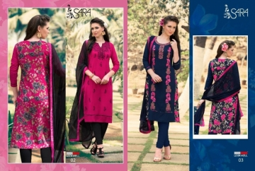 LOOKWELL SARA EMBROIDERY WORK WITH FANCY BACK PRINTED SUITS WHOLESALE PRICE (3) JPG