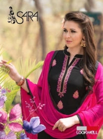 LOOKWELL SARA EMBROIDERY WORK WITH FANCY BACK PRINTED SUITS WHOLESALE PRICE (5) JPG