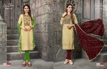 LOOKWELL SUCHI COTTON FANCY SALWAR SUITS WHOLESALE PRICE (3) JPG