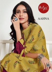 LT FABRICS NITYA PRESENT AAHNA PURE SILK WITH FOIL PRINT KURTIS WITH BOTTOM(01)jpg