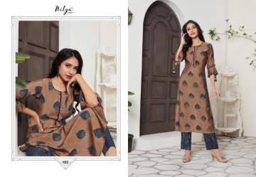 LT FABRICS NITYA PRESENT AAHNA PURE SILK WITH FOIL PRINT KURTIS WITH BOTTOM(04)jpg