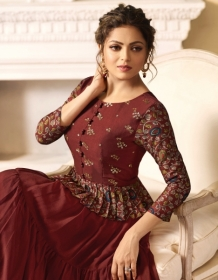 LT FABRICS NITYA VOL.34 NX STYLISH PARTY WEAR GOWN STYLE KURTIS WHOLESALE PRICE (8)JPG