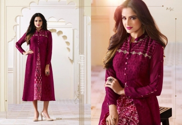 LT NITYA 1501- 1512 SERIES GEORGETTE KURTIS WHOLESALE PRICE (8) JPG