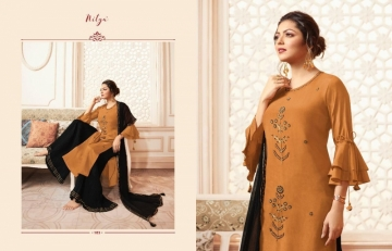 LT NITYA PRESENTS VIVANA PURE VISCOSE DESIGNER KURTI WITH BOTTOM (14) JPG