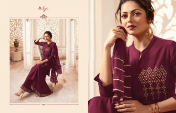LT NITYA PRESENTS VIVANA PURE VISCOSE DESIGNER KURTI WITH BOTTOM (9) JPG