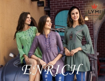 LYMI ORIGINALS PRESENTS ENRICH EMBROIDERED FANCY WEAR SHORT TOPS WHOLESALE PRICE (01)