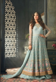MAISHA 5301-5308 TIHOR PARTY WEAR DRESSES WITH GOWN WHOLESALE PRICE SURAT (15)JPG