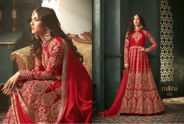 MAISHA 5301-5308 TIHOR PARTY WEAR DRESSES WITH GOWN WHOLESALE PRICE SURAT (4)JPG