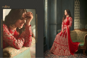 MAISHA 5301-5308 TIHOR PARTY WEAR DRESSES WITH GOWN WHOLESALE PRICE SURAT (5)JPG