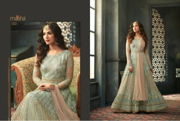 MAISHA 5301-5308 TIHOR PARTY WEAR DRESSES WITH GOWN WHOLESALE PRICE SURAT (6)JPG