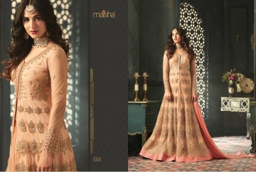 MAISHA 5301-5308 TIHOR PARTY WEAR DRESSES WITH GOWN WHOLESALE PRICE SURAT (8)JPG