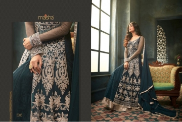 MAISHA 5301-5308 TIHOR PARTY WEAR DRESSES WITH GOWN WHOLESALE PRICE SURAT (9)JPG