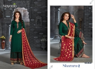 NAYAAB SHARARA-02 RAYON WITH EMBROIDERY PARTY WEAR SUITS WHOLESALE PRICE(3)JPG