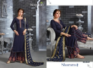 NAYAAB SHARARA-02 RAYON WITH EMBROIDERY PARTY WEAR SUITS WHOLESALE PRICE(2)JPG
