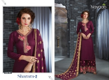 NAYAAB SHARARA-02 RAYON WITH EMBROIDERY PARTY WEAR SUITS WHOLESALE PRICE(6)JPG