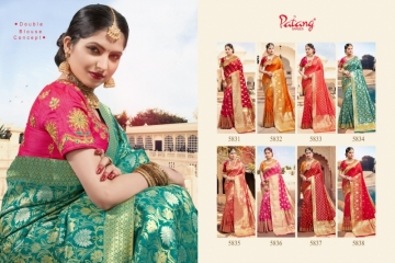 PATANG  FASHION STORY SILK EMBROIDERY SAREE WITH DUBBLE BLOUSE (11) JPG