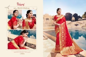PATANG  FASHION STORY SILK EMBROIDERY SAREE WITH DUBBLE BLOUSE (4) JPG