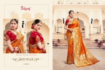 PATANG  FASHION STORY SILK EMBROIDERY SAREE WITH DUBBLE BLOUSE (5) JPG