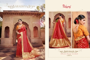 PATANG  FASHION STORY SILK EMBROIDERY SAREE WITH DUBBLE BLOUSE (6) JPG