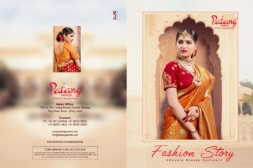 PATANG  FASHION STORY SILK EMBROIDERY SAREE WITH DUBBLE BLOUSE (9) JPG