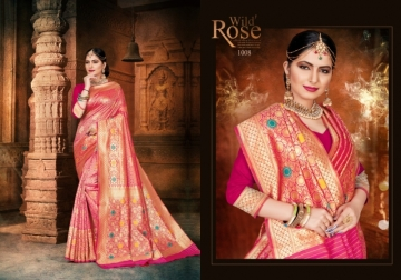 PATANG PRESENTS EXPRESSION SILK DESIGNER PARTY WEAR SAREES (01) JPG