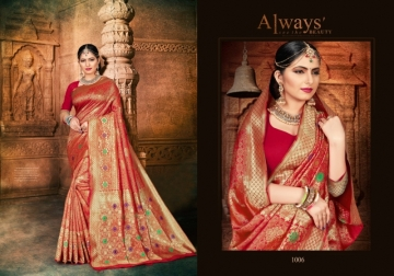 PATANG PRESENTS EXPRESSION SILK DESIGNER PARTY WEAR SAREES (10) JPG