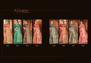 PATANG PRESENTS EXPRESSION SILK DESIGNER PARTY WEAR SAREES (2) JPG