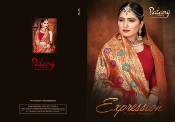 PATANG PRESENTS EXPRESSION SILK DESIGNER PARTY WEAR SAREES (3) JPG
