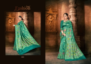 PATANG PRESENTS EXPRESSION SILK DESIGNER PARTY WEAR SAREES (4) JPG
