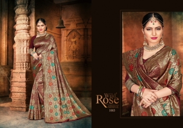 PATANG PRESENTS EXPRESSION SILK DESIGNER PARTY WEAR SAREES (7) JPG