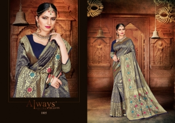 PATANG PRESENTS EXPRESSION SILK DESIGNER PARTY WEAR SAREES (8) JPG