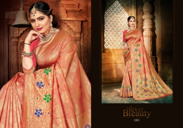 PATANG PRESENTS EXPRESSION SILK DESIGNER PARTY WEAR SAREES (9) JPG