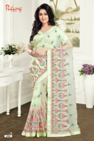 PATANG ROSE PETALS SOFT FEEL ORGANZA FABRIC WITH EXCLUSIVE WORK SAREE WITH BLOUSE SATIN SILK WHOLESALE PRICE(2)JPG