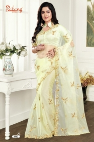 PATANG ROSE PETALS SOFT FEEL ORGANZA FABRIC WITH EXCLUSIVE WORK SAREE WITH BLOUSE SATIN SILK WHOLESALE PRICE(3)JPG