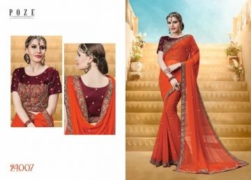 PATANG THE PEARL CHIFFON SILK AND GEORGETTE SAREE WITH BLOUSE PARTY WEAR SAREES WHOLESALE PRICE(14)JPG