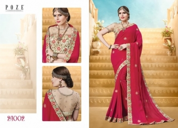 PATANG THE PEARL CHIFFON SILK AND GEORGETTE SAREE WITH BLOUSE PARTY WEAR SAREES WHOLESALE PRICE(15)JPG
