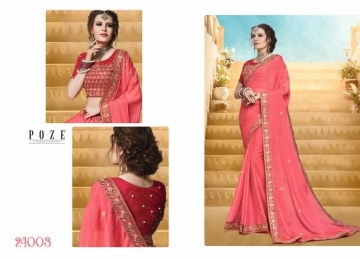 PATANG THE PEARL CHIFFON SILK AND GEORGETTE SAREE WITH BLOUSE PARTY WEAR SAREES WHOLESALE PRICE(16)JPG