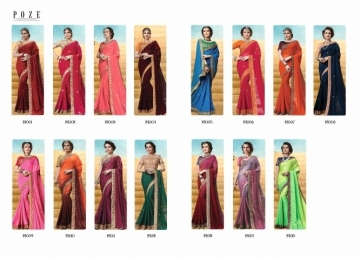 PATANG THE PEARL CHIFFON SILK AND GEORGETTE SAREE WITH BLOUSE PARTY WEAR SAREES WHOLESALE PRICE(17)JPG