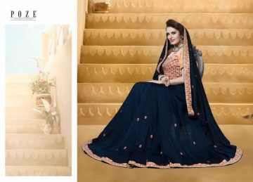 PATANG THE PEARL CHIFFON SILK AND GEORGETTE SAREE WITH BLOUSE PARTY WEAR SAREES WHOLESALE PRICE(18)JPG