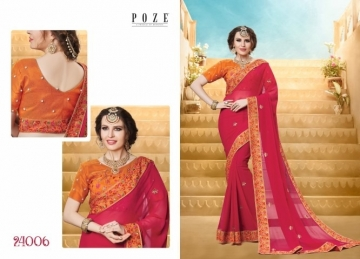 PATANG THE PEARL CHIFFON SILK AND GEORGETTE SAREE WITH BLOUSE PARTY WEAR SAREES WHOLESALE PRICE(20)JPG