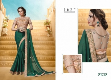 PATANG THE PEARL CHIFFON SILK AND GEORGETTE SAREE WITH BLOUSE PARTY WEAR SAREES WHOLESALE PRICE(5)JPG