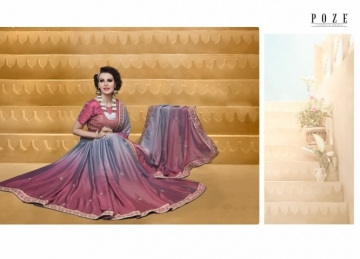 PATANG THE PEARL CHIFFON SILK AND GEORGETTE SAREE WITH BLOUSE PARTY WEAR SAREES WHOLESALE PRICE(6)JPG
