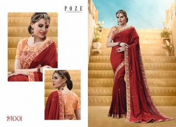 PATANG THE PEARL CHIFFON SILK AND GEORGETTE SAREE WITH BLOUSE PARTY WEAR SAREES WHOLESALE PRICE(9)JPG