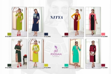 POONAM NITYA RAYON DESIGNER EMBROIDED KURTIS WHOLESALE SUPPLIER  SURAT (4) JPG