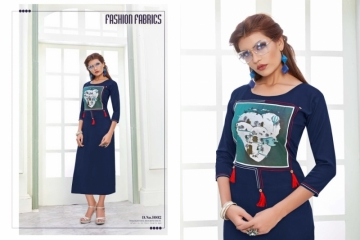 POONAM NITYA RAYON DESIGNER EMBROIDED KURTIS WHOLESALE SUPPLIER  SURAT (7) JPG