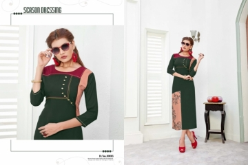 POONAM NITYA RAYON DESIGNER EMBROIDED KURTIS WHOLESALE SUPPLIER  SURAT (9) JPG