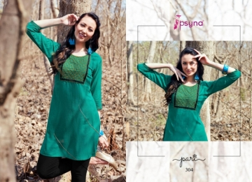 PSYNA PARI VOL-3 EMBROIDERY SHORT STRAIGHT KURTI WHOLESALE PRICE (5) JPG