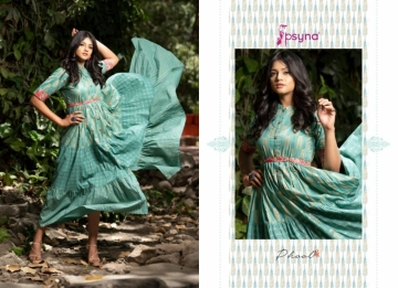 PSYNA PRESENTS PHOOL COTTON PRINTED GOWN STYLE KURTI WHOLESALE PRICE (11) JPG