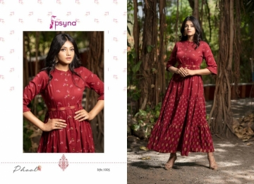 PSYNA PRESENTS PHOOL COTTON PRINTED GOWN STYLE KURTI WHOLESALE PRICE (13) JPG